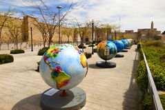 Exhibition globes in Jerusalem Royalty Free Stock Image