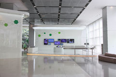 Exhibition hall. With TVs on wall Stock Images