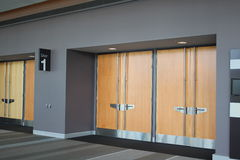 Exhibition Hall Doors Stock Photo