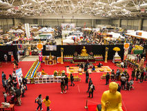 Exhibition hall at the Festival of the Orient in Rome Italy. The Festival of the Orient was held at the Exhibition Centre near Rome Airport at Fumincino on the Stock Photos