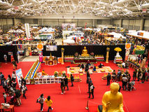 Exhibition hall at the Festival of the Orient in Rome Italy. The Festival of the Orient was held at the Exhibition Centre near Rome Airport at Fumincino on the Stock Photo
