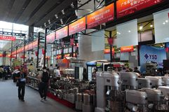Exhibition hall of large machinery and equipment Stock Photo