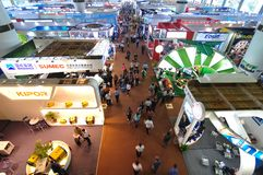 Exhibition hall of machinery and equipment. The exhibition hall of machinery and equipment in the 110th Canton Fair, which officially known as the China Import Stock Image