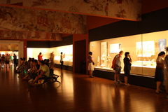 Exhibition hall in a Museum of History royalty free stock images