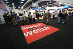 Exhibition hall at Oracle OpenWorld conference Stock Images