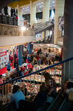 Exhibition hall and people Stock Photo