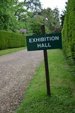 Exhibition hall sign. Stock Images