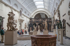 Exhibition hall of Victoria and Albert Museum. Stock Images