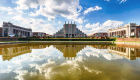 Exhibition halls in Brussels Expo, Belgium Royalty Free Stock Photography