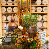 Exhibition in Heaven Hill Distilleries bourbon heritage center. Stock Photo