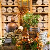 Exhibition in Heaven Hill Distilleries bourbon heritage center. Stock Photo