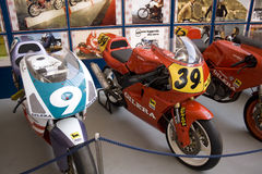 Exhibition of historic Gilera Stock Photography