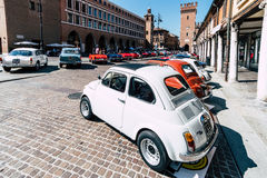 Exhibition of historical vehicles in Ferrara, Italy stock photography