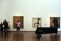 Exhibition inside the Leopold museum in Vienna Royalty Free Stock Image