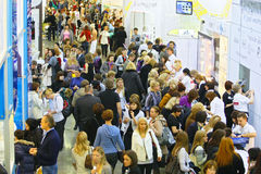 Exhibition INTERCHARM professional Royalty Free Stock Image
