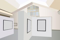 Exhibition interior vector Royalty Free Stock Photo