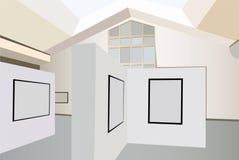 Exhibition interior vector. Exhibition interior on light color, vector stock illustration