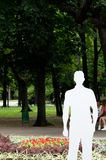 Exhibition of invisible people in Shevchenko Park.  iinvisible m Royalty Free Stock Photography