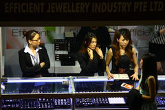 Exhibition of jewelery Royalty Free Stock Images