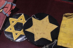 Exhibition of Jewish artifacts from Holocaust Stock Images