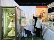 Exhibition in Kaunas town Zalgirio Arena, Lithuania Royalty Free Stock Images