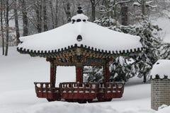 The exhibition `Korean garden` Pavilion Royalty Free Stock Photography