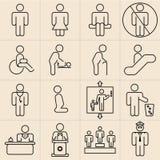 Exhibition Line Icons stock illustration