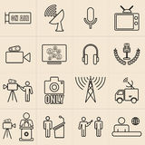 Exhibition Line Icons Set Royalty Free Stock Photo