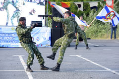 Exhibition of marine units Royalty Free Stock Photography