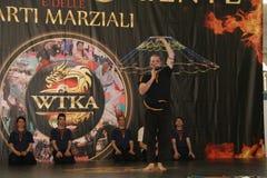 Exhibition martial arts defense Stock Photos