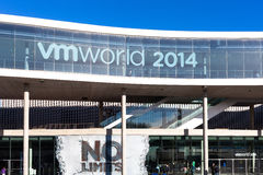 Exhibition mass VMWORLD in Barcelona No Limits Stock Images
