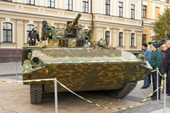 Exhibition of military equipment in Kyiv Stock Image