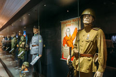Exhibition at the Military Museums Manege On Royalty Free Stock Image
