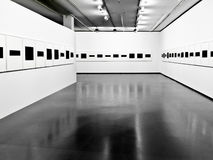 The exhibition in the modern interior. Royalty Free Stock Photography