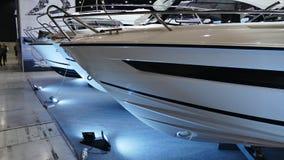 Exhibition of motor boats. royalty free stock photos