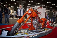 Exhibition of motorcycles Stock Photography