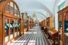 The exhibition in the Museum of the castle Nesvizh. Belarus Stock Images