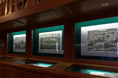 Exhibition in the National Library of Russia Royalty Free Stock Image