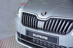 Exhibition of new Skoda Superb royalty free stock photography