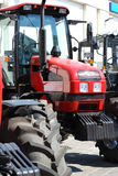 Exhibition of new tractors for agriculture Stock Photo