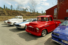 Exhibition of old American cars Stock Photography