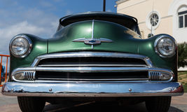 Exhibition of old American classic cars in Vladivostok. Royalty Free Stock Image