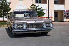 Exhibition of old American classic cars in Vladivostok. Stock Photos
