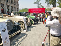 Exhibition of old car Stock Photos