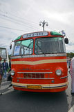 Exhibition. Old LAZ bus on Exhibition of retro cars and buses, Moscow city, Russia Royalty Free Stock Photos