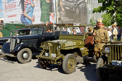 Exhibition of old military cars. Celebration of Victory Day. Rostov-on-Don, Russia. May 9, 2013 Royalty Free Stock Photos