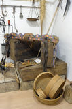 Exhibition of old tools to make baskets Stock Images