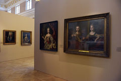 Exhibition of painting Peter the Great. Time and Places  Royalty Free Stock Photos