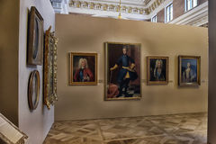 Exhibition of painting Peter the Great. Time and Places  Stock Photography