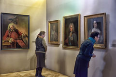 Exhibition of painting Peter the Great. Time and Places  Stock Image
